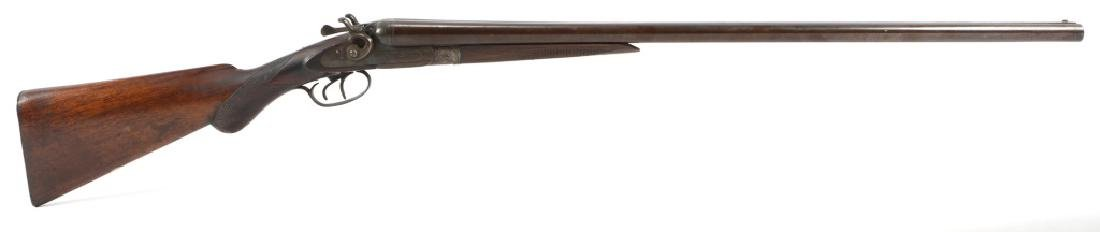 BELGIAN DOUBLE BARREL PARKHURST PERCUSSION SHOTGUN