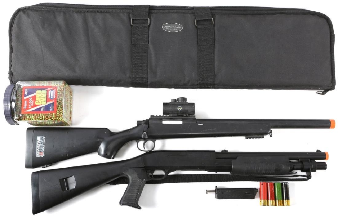 BENELLI M2 AIRSOFT GUN AND SWISS ARMS M6 AIRSOFT