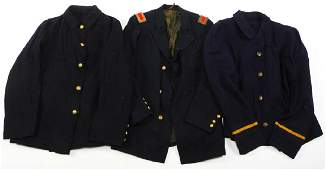 INDIAN WARS US ARMY SACK COAT TUNIC LOT OF 3