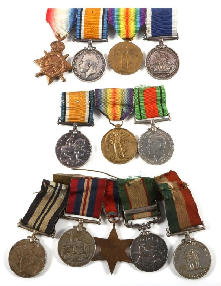WWI WWII BRITISH NAMED MEDAL GROUP LOT OF 3