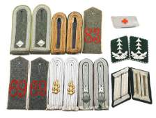 WWI & WWII GERMAN COLLAR AND SHOULDER BOARDS LOT