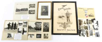 WWII GERMAN FRAME AND PHOTO MIXED LOT