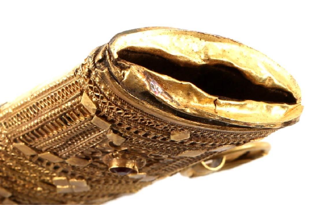 JEWELED GOLD SAUDI PRESENTATION JAMBIYA DAGGER - 10