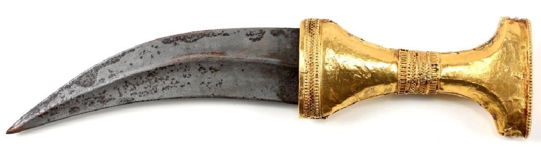 JEWELED GOLD SAUDI PRESENTATION JAMBIYA DAGGER - 5