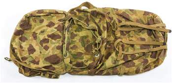 WWII US ARMY CAMO JUNGLE PACK BACKPACK DATED 43