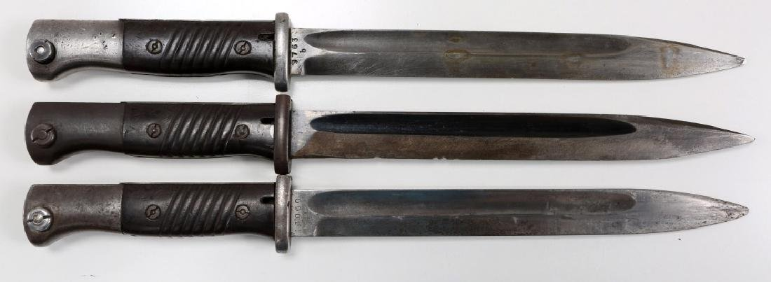 WWII GERMAN MAUSER K98 COMBAT BAYONET LOT OF 3 - 2