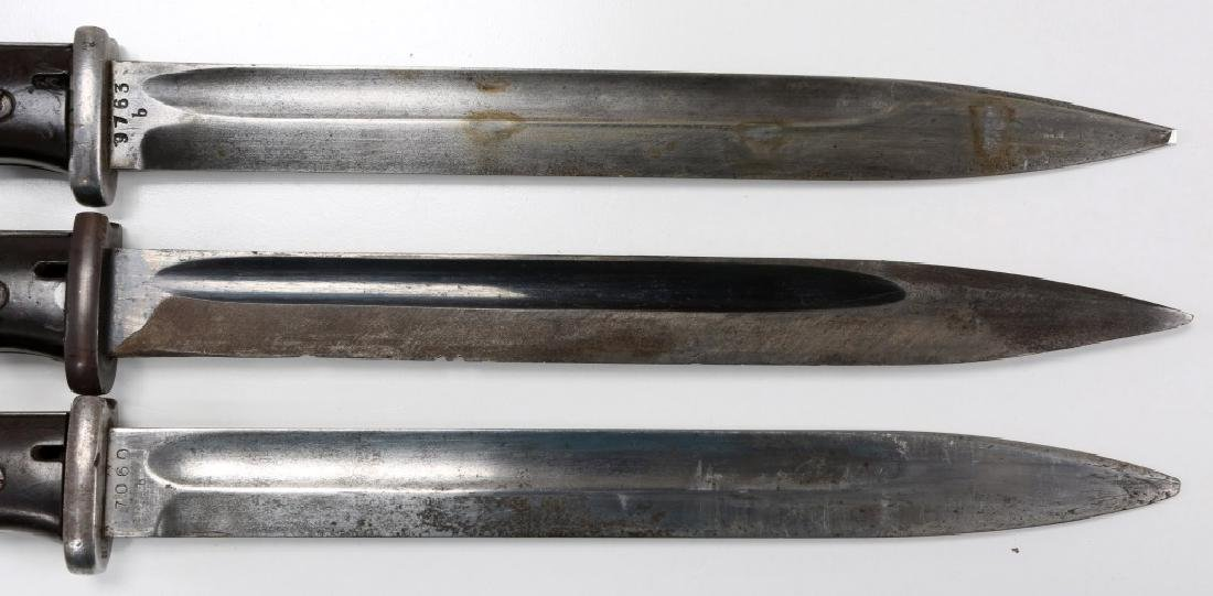 WWII GERMAN MAUSER K98 COMBAT BAYONET LOT OF 3 - 4