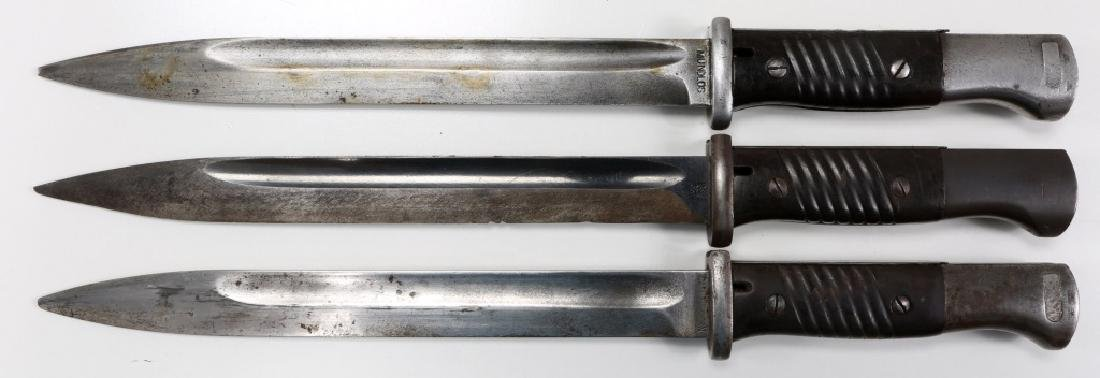 WWII GERMAN MAUSER K98 COMBAT BAYONET LOT OF 3 - 5
