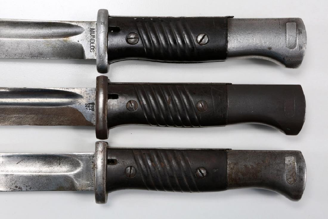 WWII GERMAN MAUSER K98 COMBAT BAYONET LOT OF 3 - 6