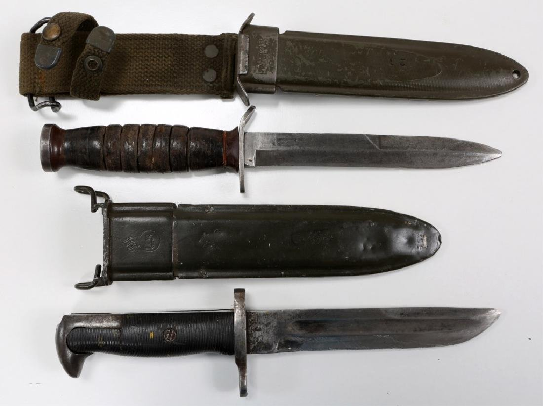 WWII US M3 IMPERIAL & M1 CUT DOWN COMBAT KNIFE