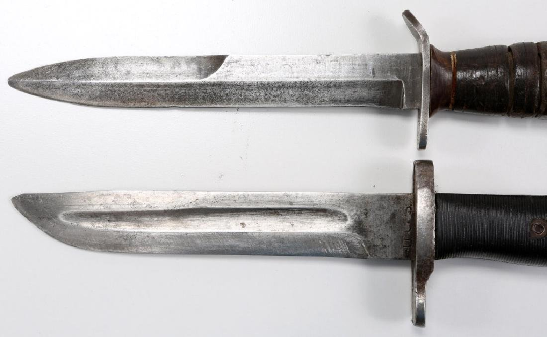 WWII US M3 IMPERIAL & M1 CUT DOWN COMBAT KNIFE - 7