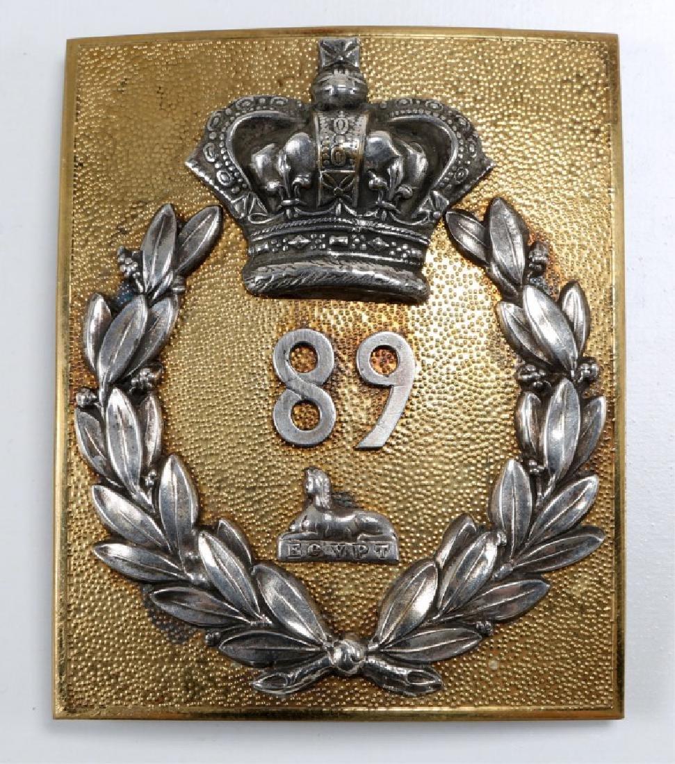 BRITISH OFF SHOULDER BELT PLATE 89th REGT OF FOOT