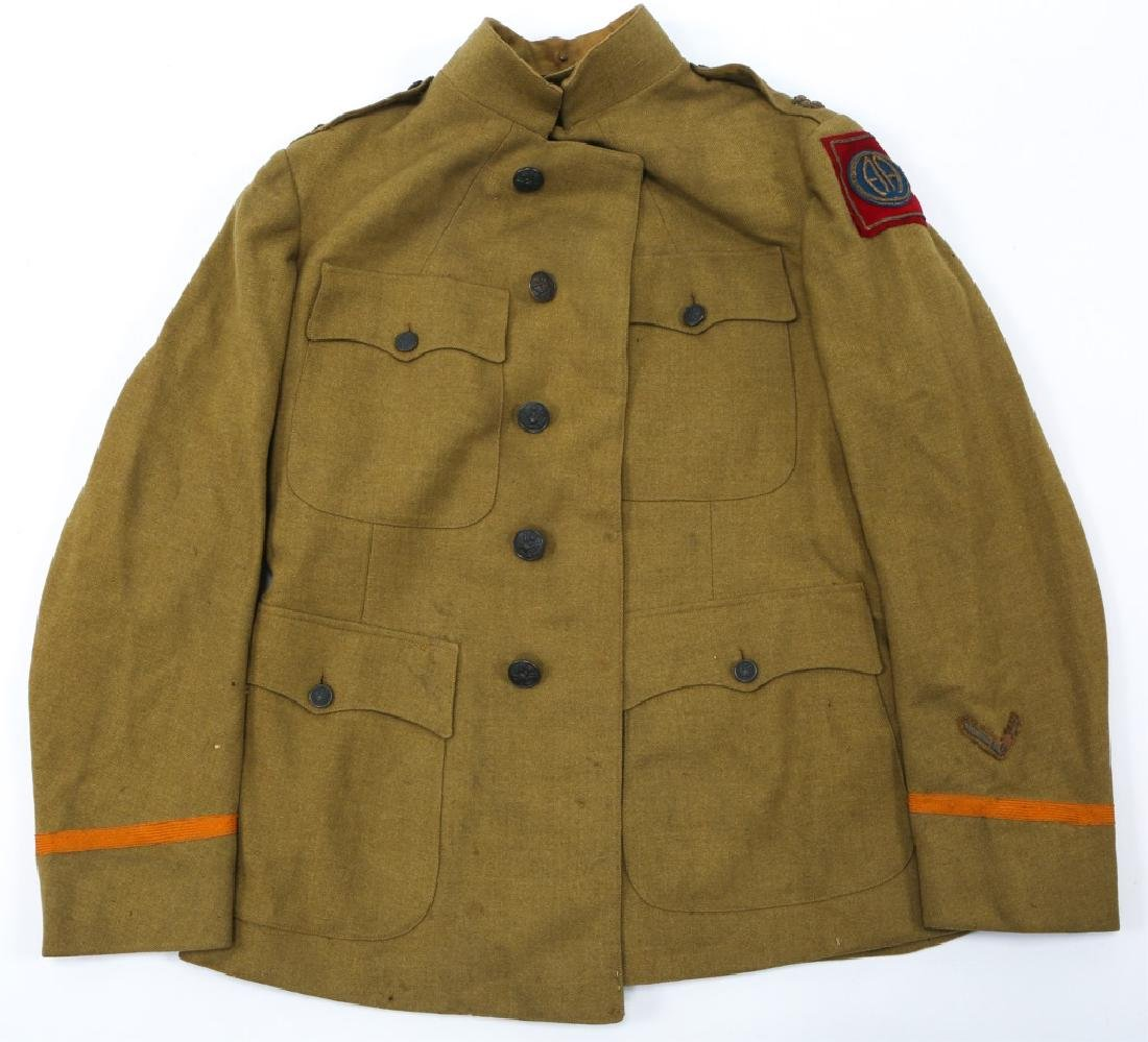 WWI US ARMY 82nd INFANTRY OFFICER NAMED TUNIC