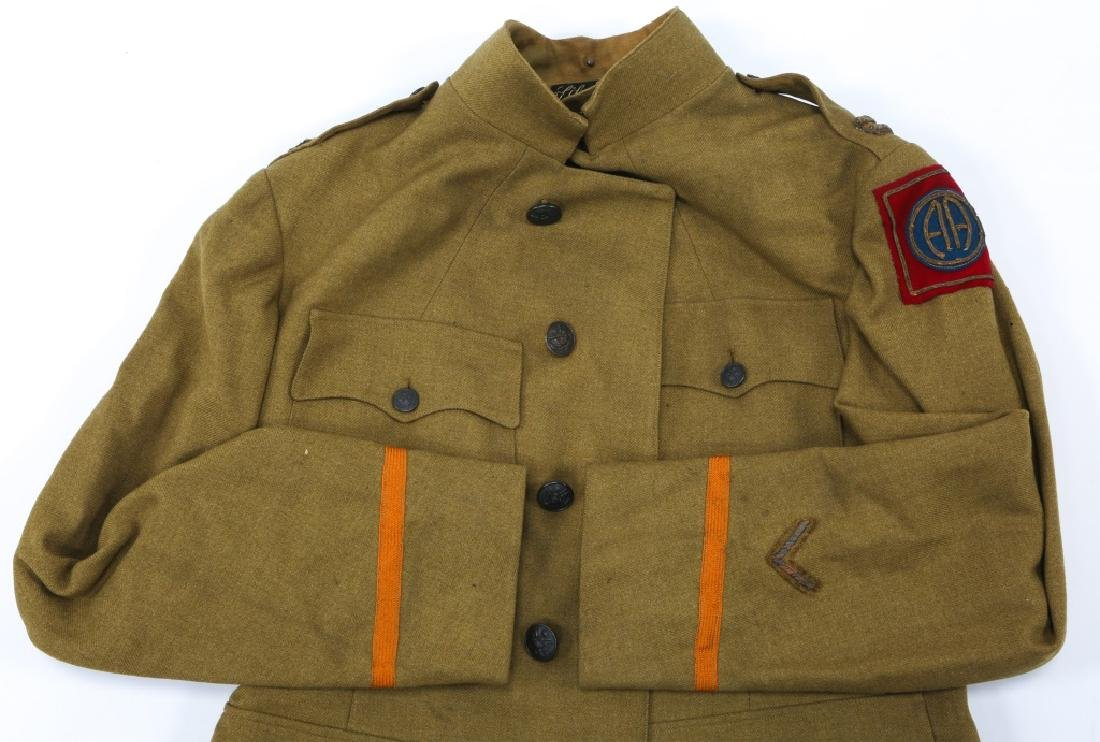 WWI US ARMY 82nd INFANTRY OFFICER NAMED TUNIC - 2