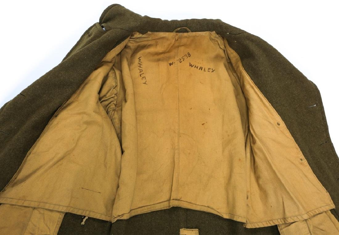 WWII US ARMY OVERCOAT AND IKE JACKET LOT OF 4 - 10
