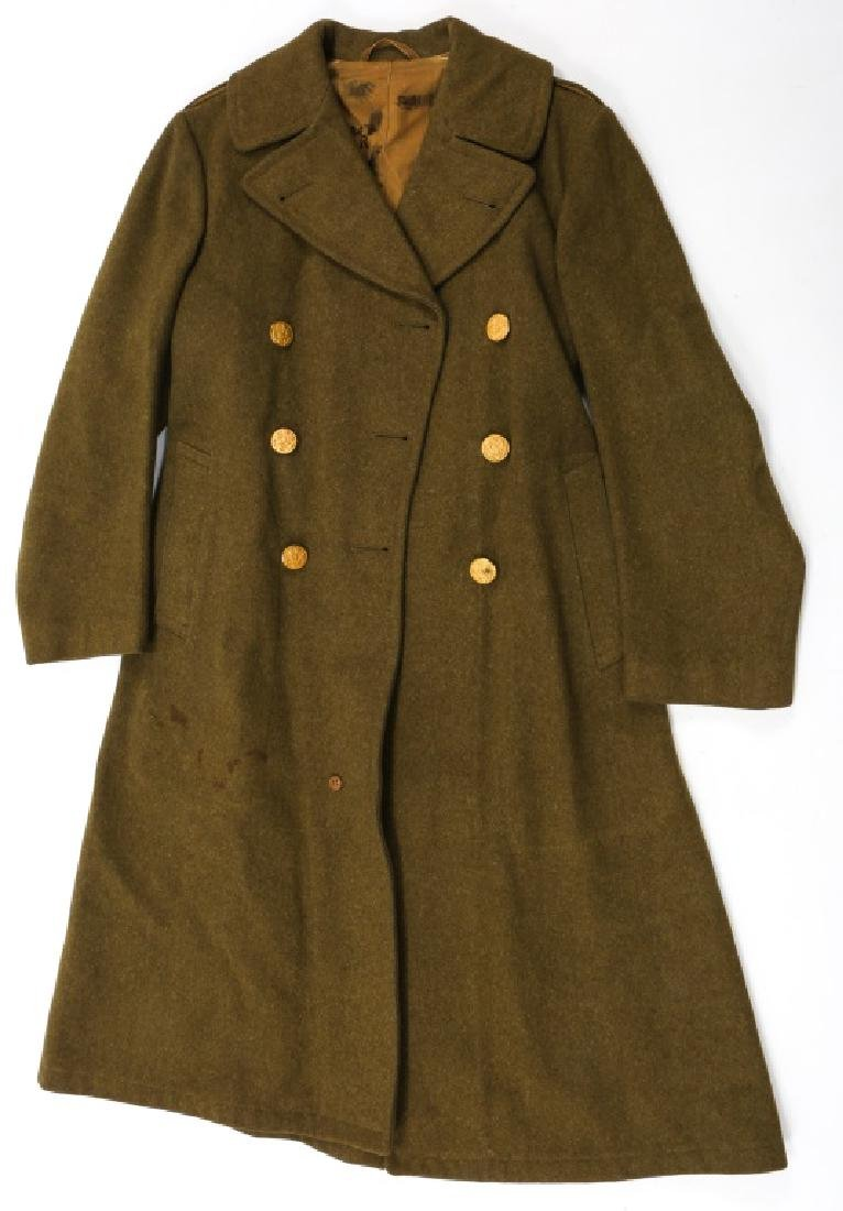 WWII US ARMY OVERCOAT AND IKE JACKET LOT OF 4 - 2