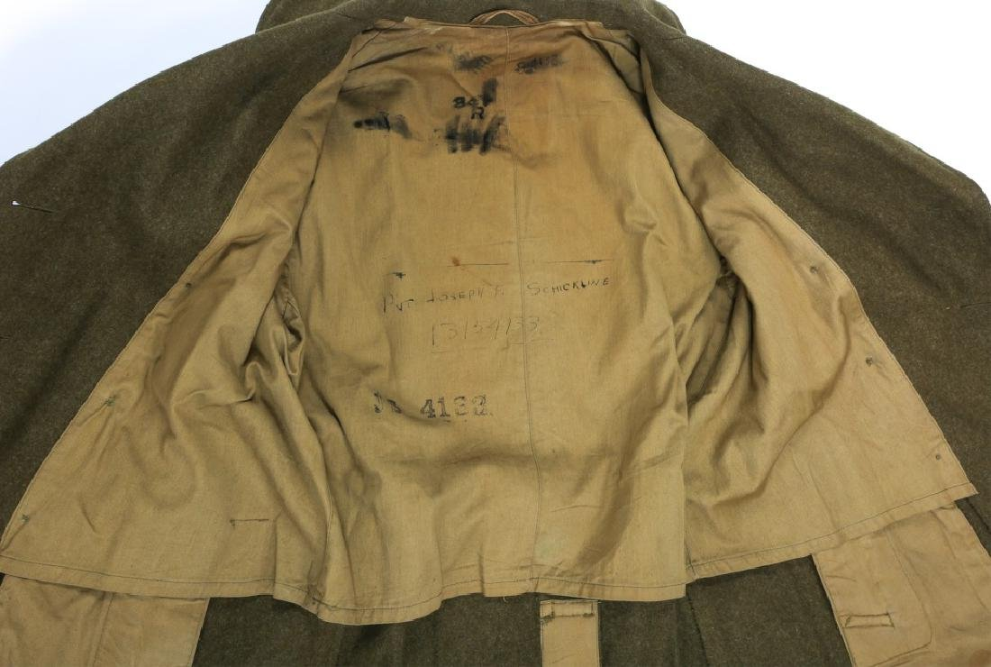 WWII US ARMY OVERCOAT AND IKE JACKET LOT OF 4 - 5