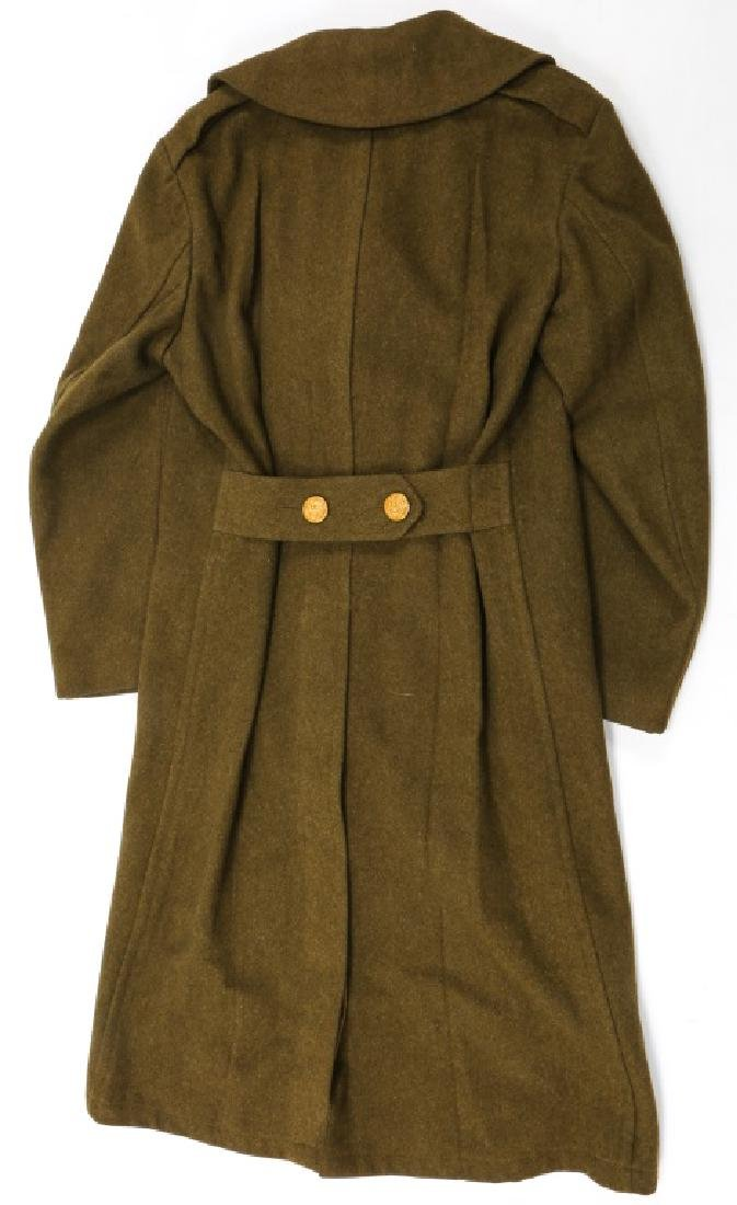 WWII US ARMY OVERCOAT AND IKE JACKET LOT OF 4 - 6