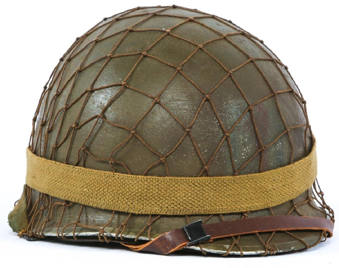 WWII US 1st INFANTRY DIVISION PAINTED M1 HELMET