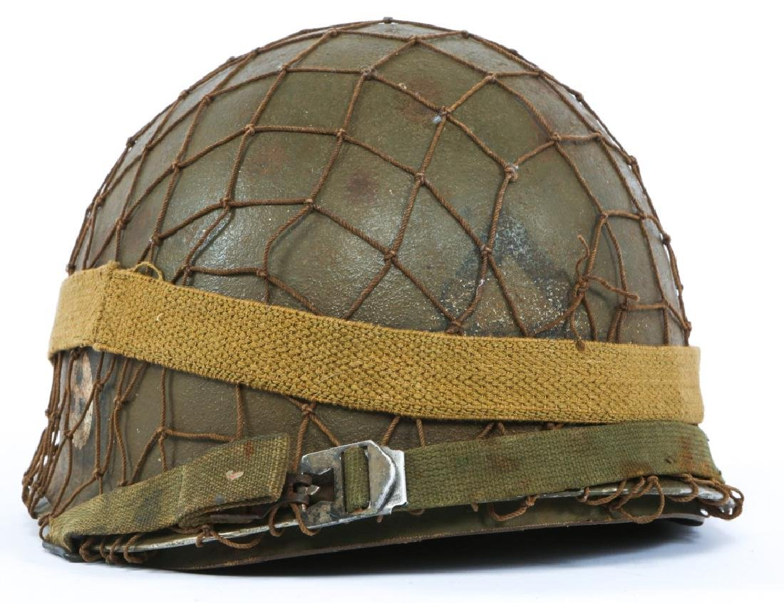 WWII US 1st INFANTRY DIVISION PAINTED M1 HELMET - 2