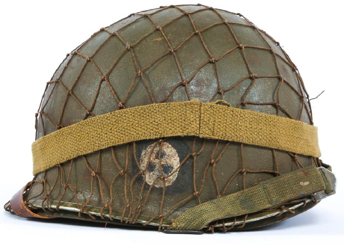 WWII US 1st INFANTRY DIVISION PAINTED M1 HELMET - 3