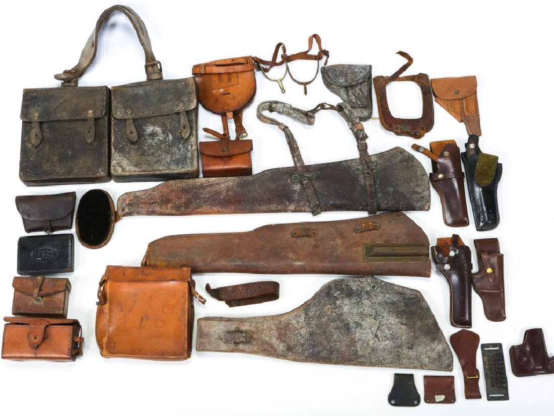 MILITARY LEATHER ITEM LOT OF 25