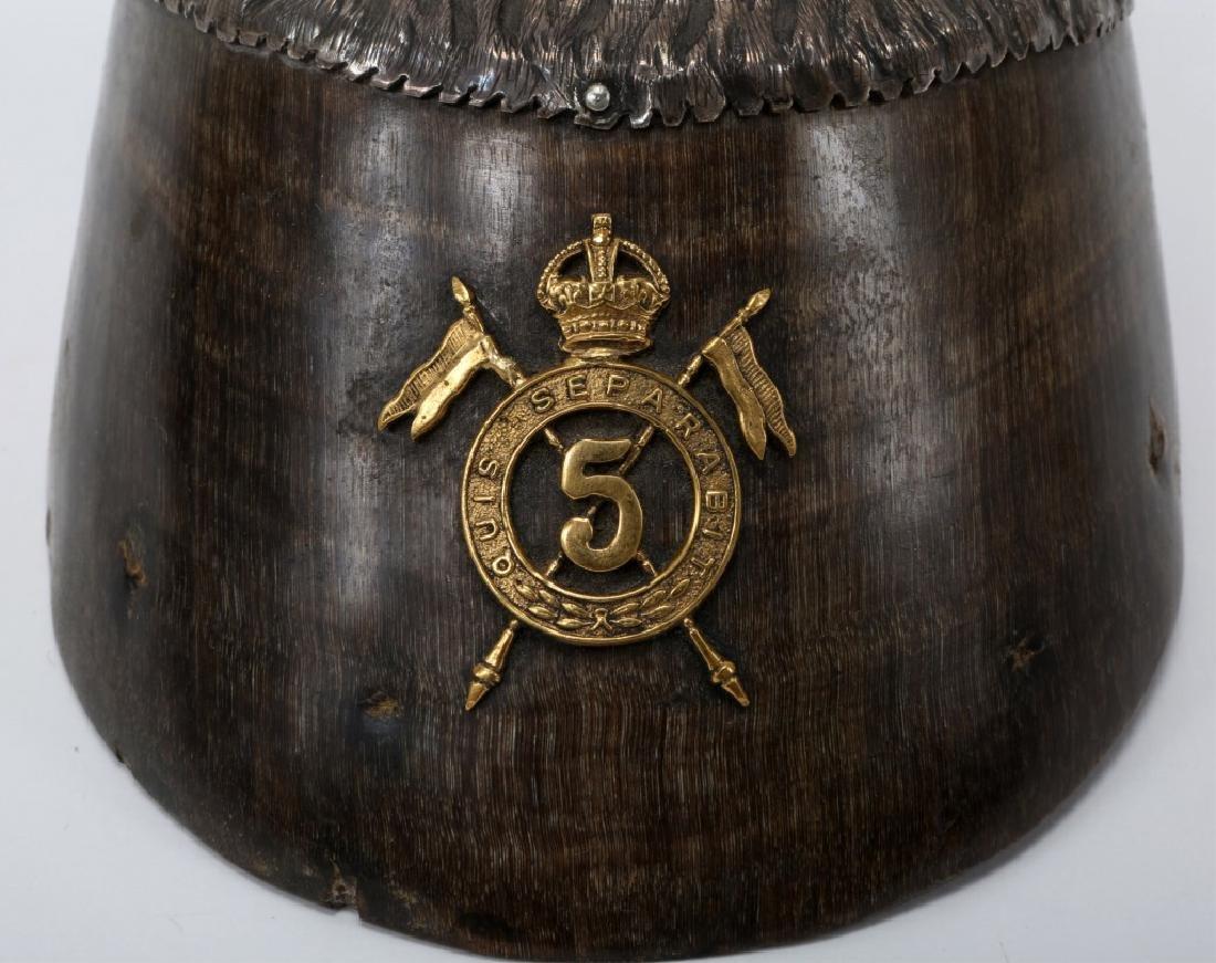 BRITISH 5th LANCERS HORSE HOOF DESK ORNAMENT - 4