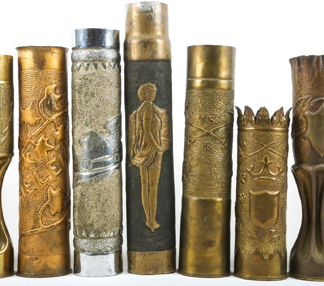 WWI SHELL TRENCH ART LOT OF 15 - 3