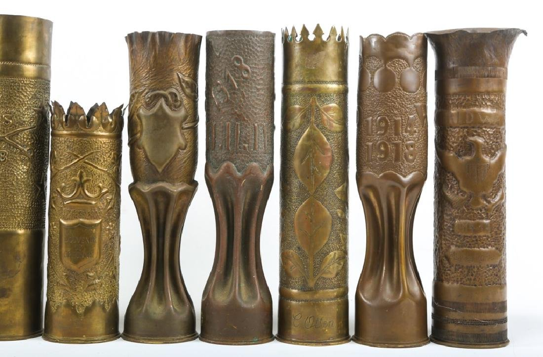 WWI SHELL TRENCH ART LOT OF 15 - 4