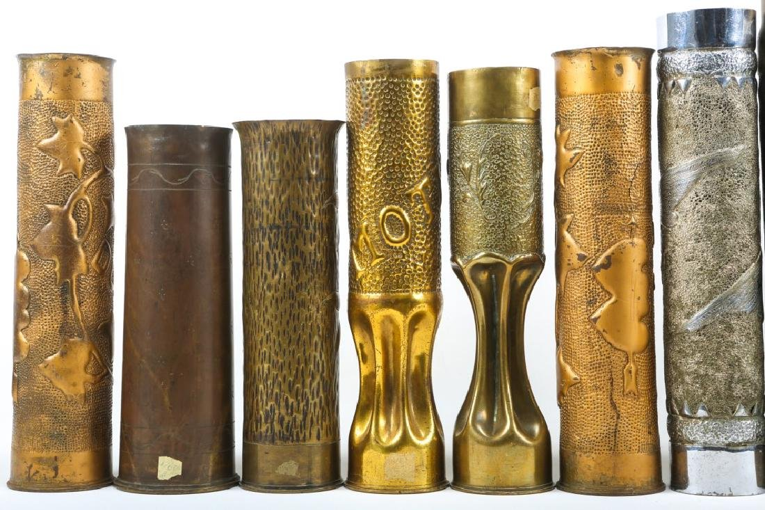 WWI SHELL TRENCH ART LOT OF 15 - 6