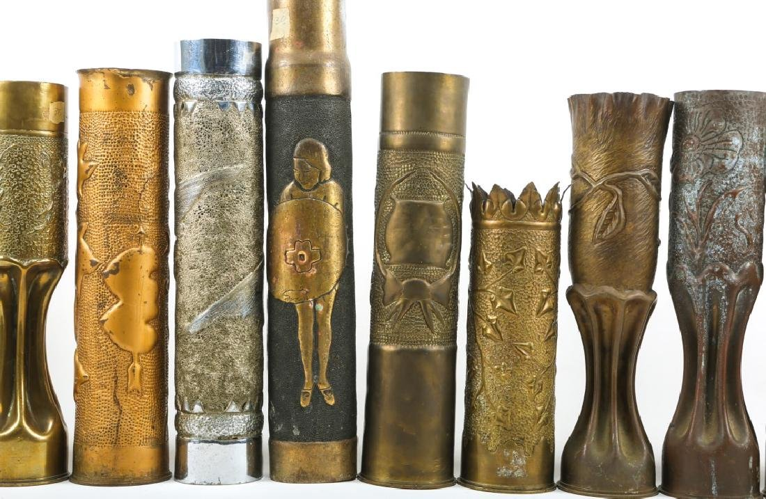 WWI SHELL TRENCH ART LOT OF 15 - 7