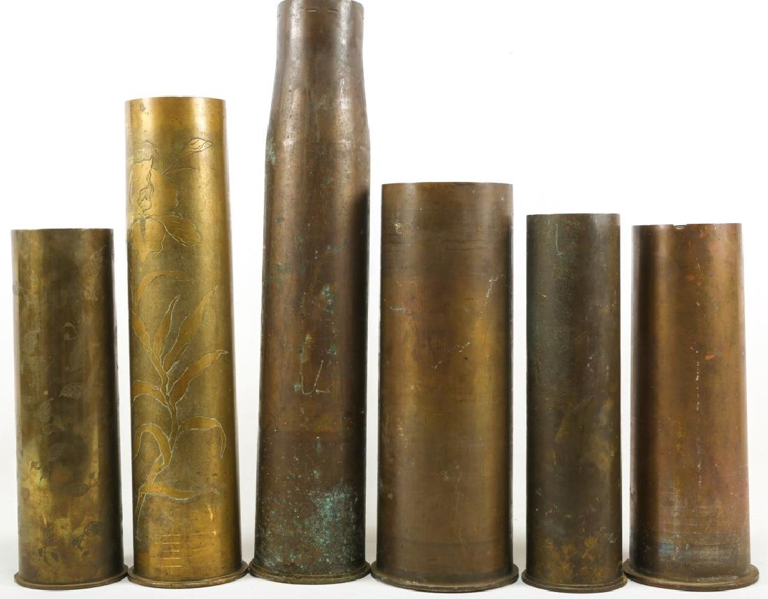 WWI SHELL TRENCH ART LOT OF 6