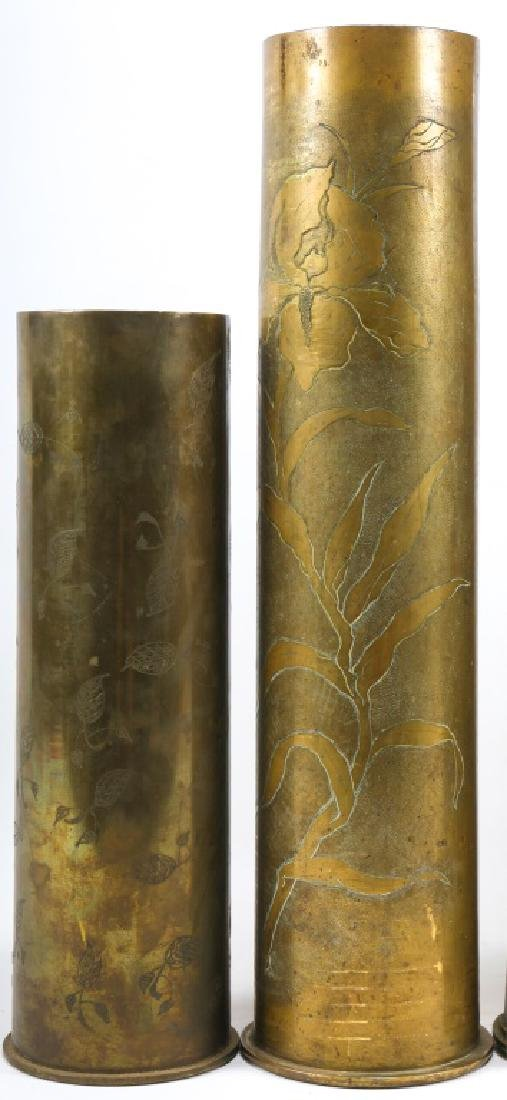 WWI SHELL TRENCH ART LOT OF 6 - 2