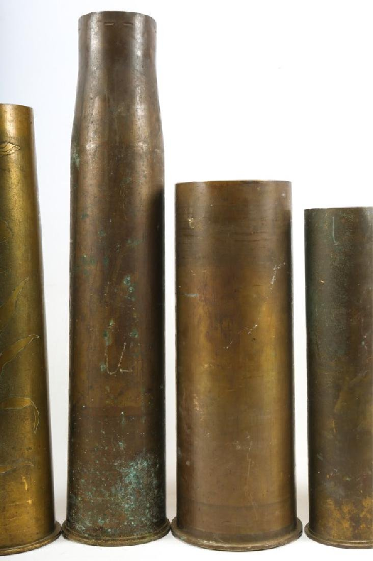 WWI SHELL TRENCH ART LOT OF 6 - 3