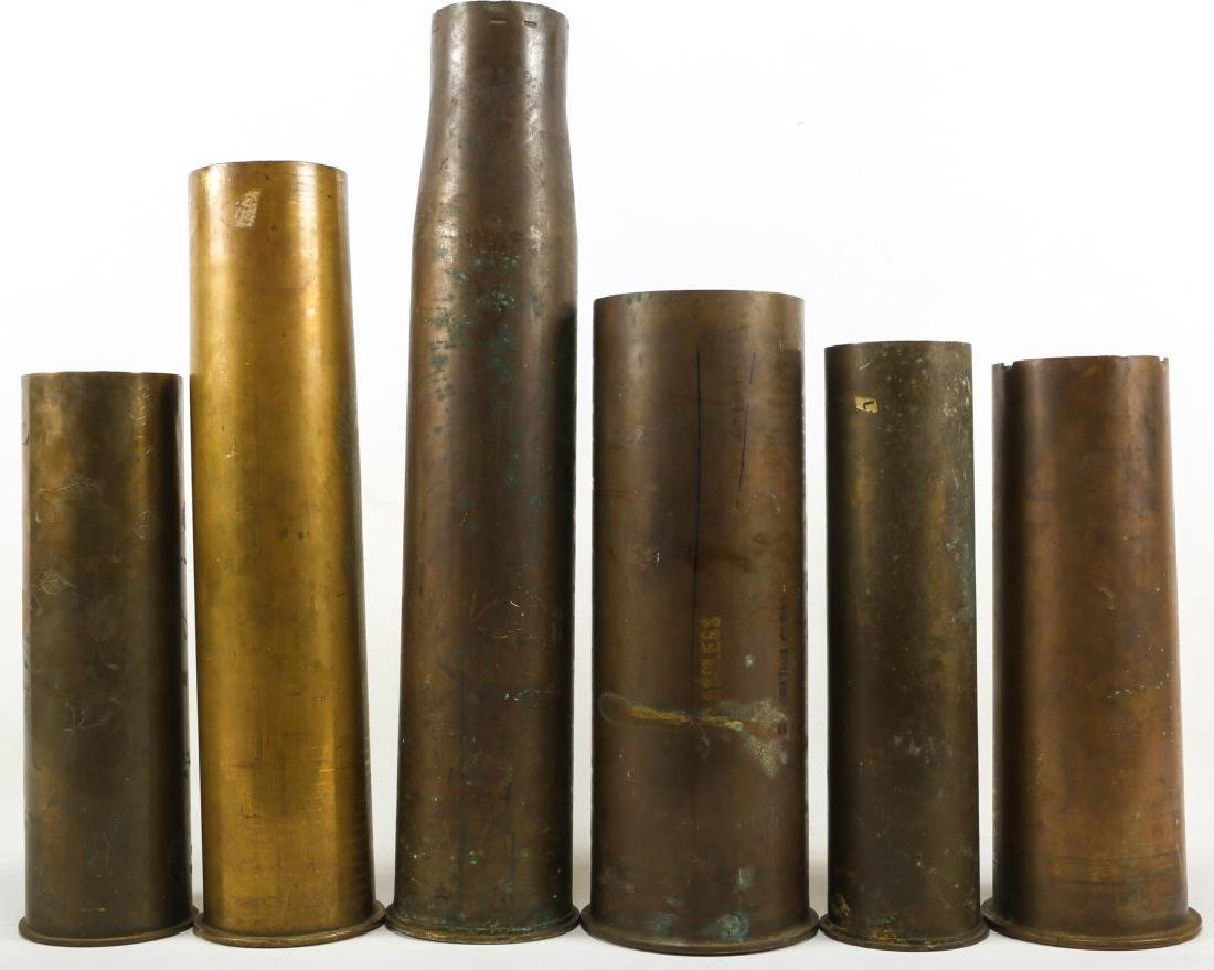 WWI SHELL TRENCH ART LOT OF 6 - 5