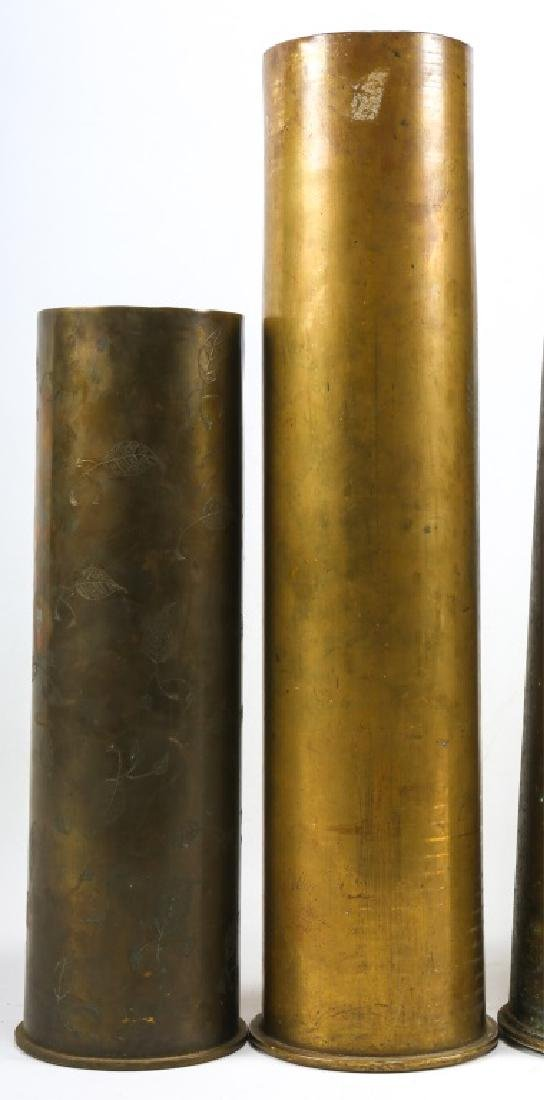 WWI SHELL TRENCH ART LOT OF 6 - 6