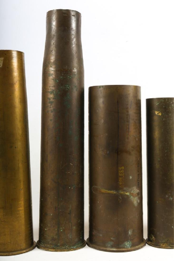 WWI SHELL TRENCH ART LOT OF 6 - 7