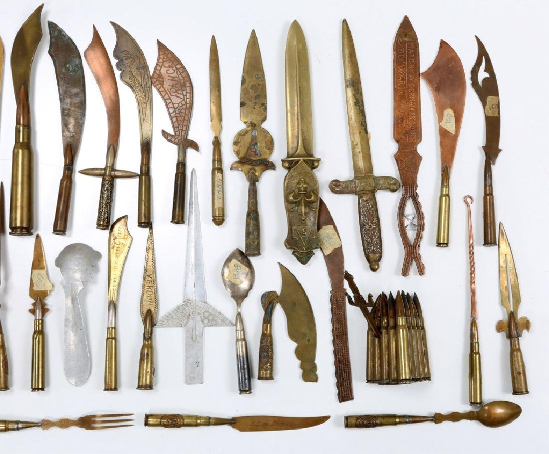 WWII TRENCH ART LETTER OPENERS LOT OF 42 - 6
