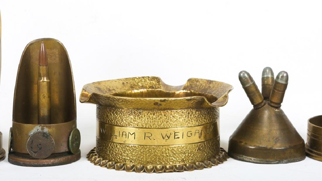 WWII TRENCH ART ASHTRAY LOT OF 22 - 4