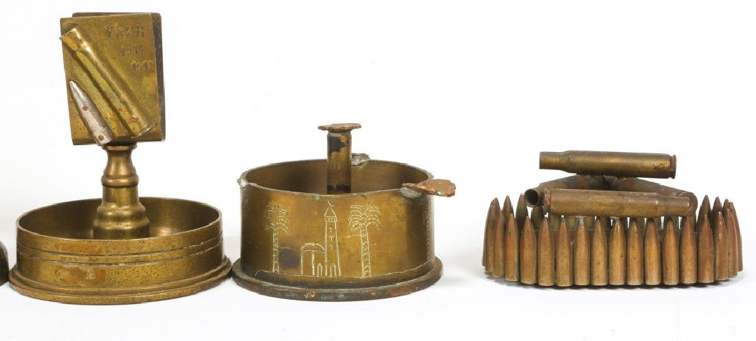 WWII TRENCH ART ASHTRAY LOT OF 22 - 5