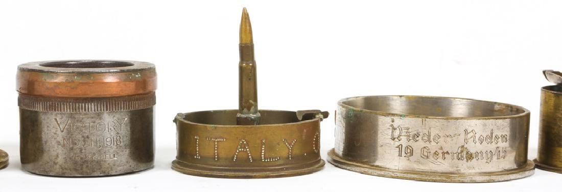 WWII TRENCH ART ASHTRAY LOT OF 22 - 7