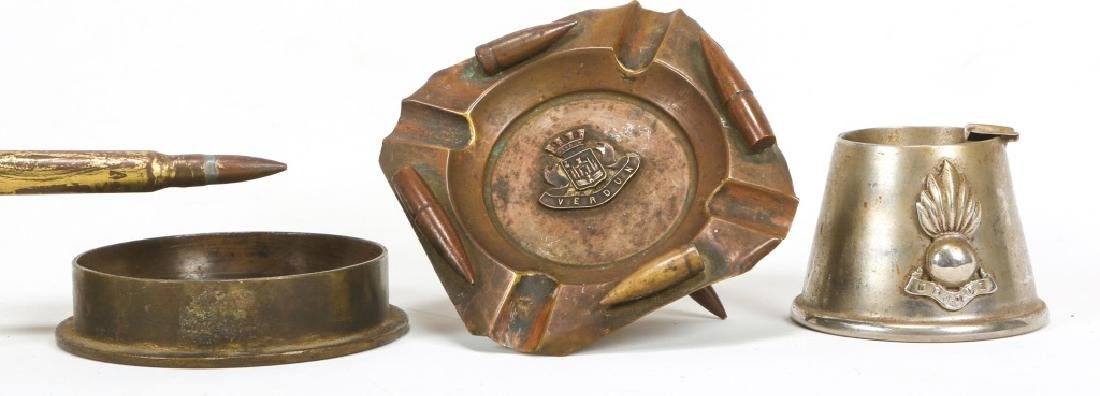 WWII TRENCH ART ASHTRAY LOT OF 22 - 9