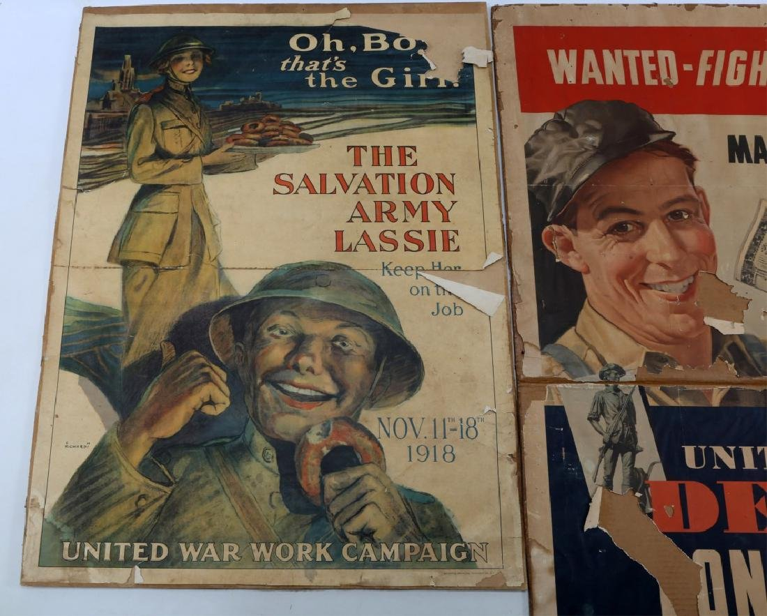 WWI US WAR POSTER AND PRINT LOT OF 4 - 3