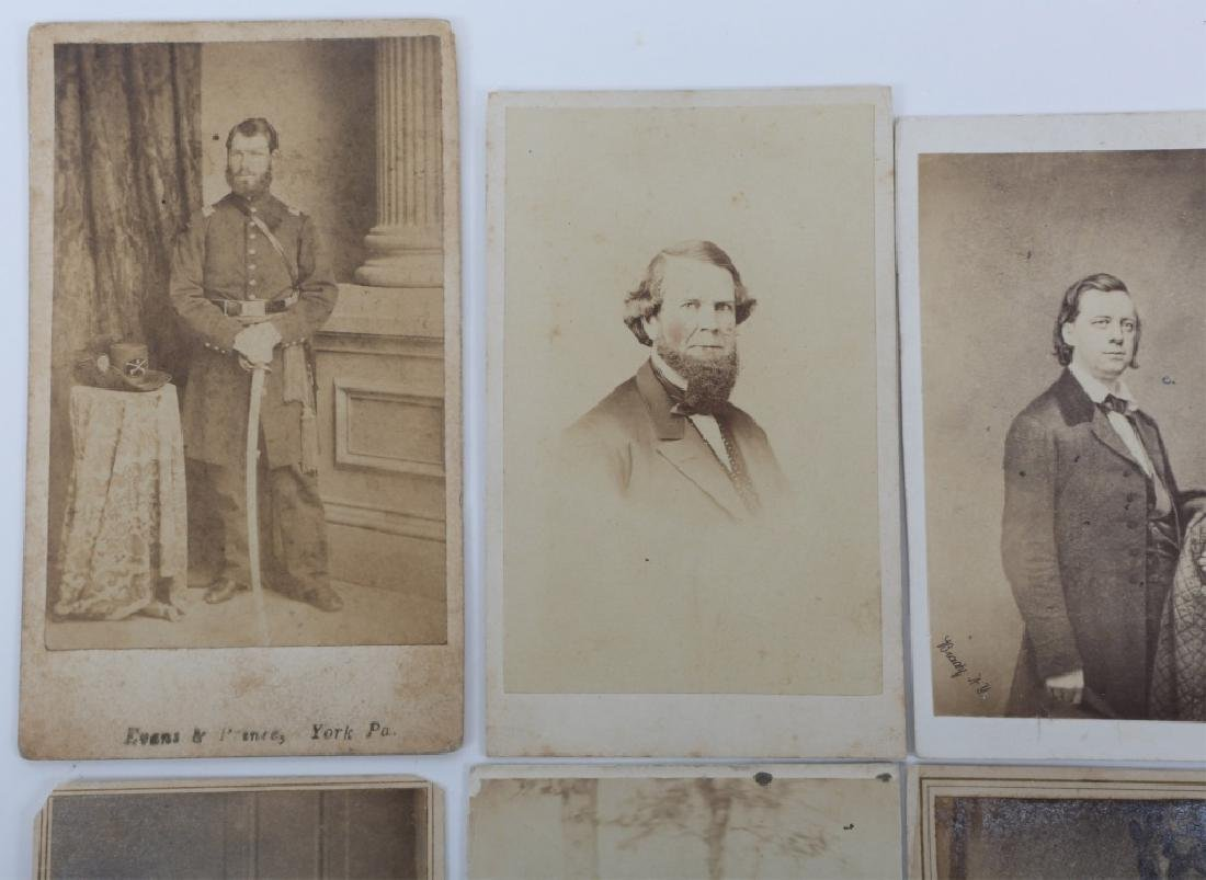 CIVIL WAR OFFICER & OTHER CDV PHOTO LOT OF 8 - 2