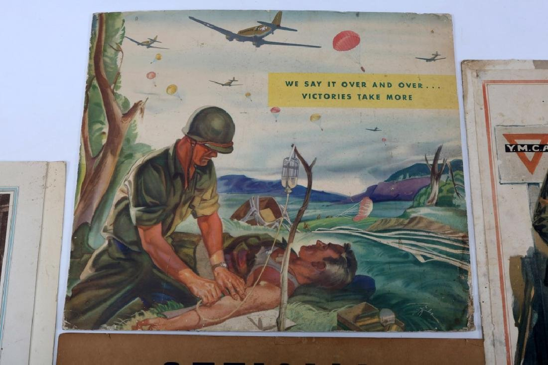 WWII US WAR POSTER LOT OF 4 - 4
