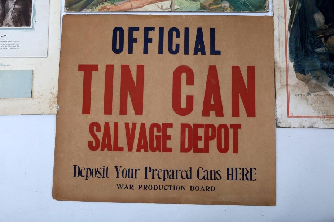 WWII US WAR POSTER LOT OF 4 - 5
