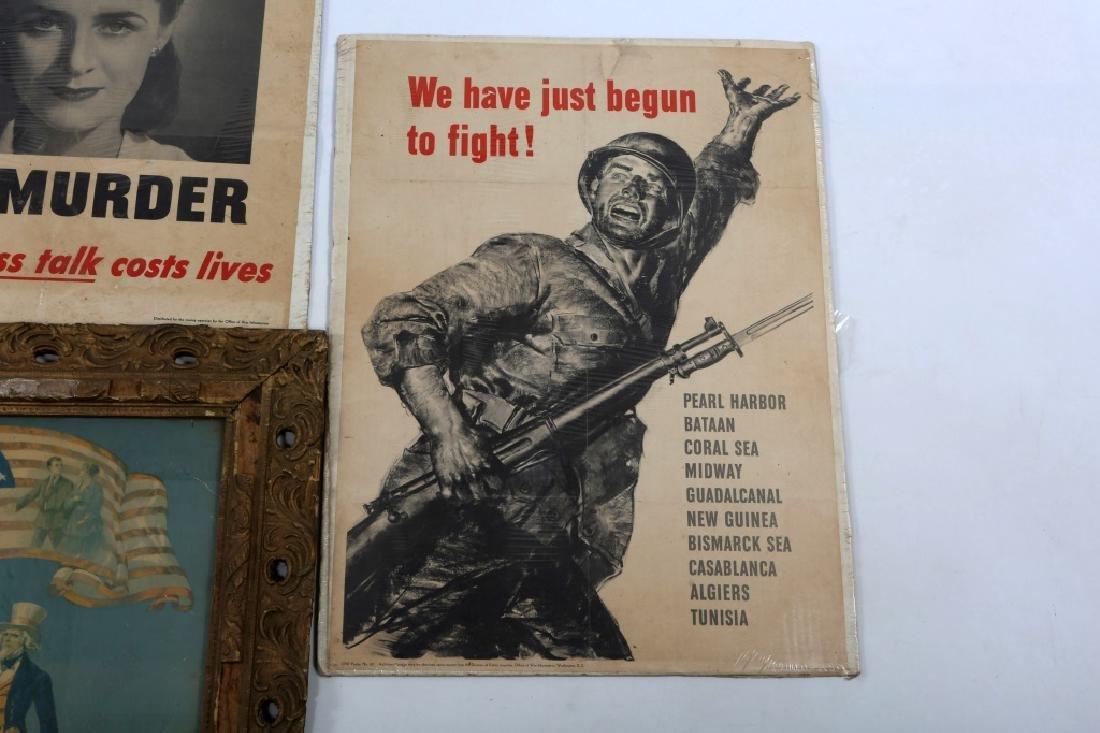 US WAR POSTER LOT OF 4 - 4