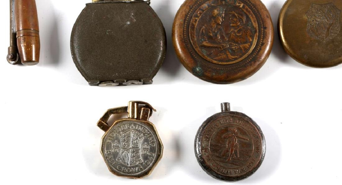 WWI & WWII WORLD MILITARY TRENCH LIGHTER LOT - 3