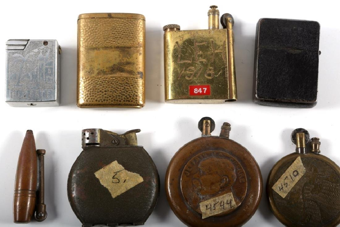 WWI & WWII WORLD MILITARY TRENCH LIGHTER LOT - 5