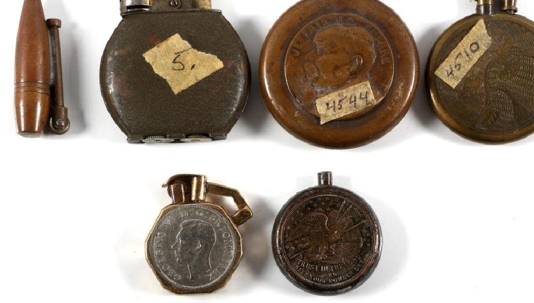 WWI & WWII WORLD MILITARY TRENCH LIGHTER LOT - 7